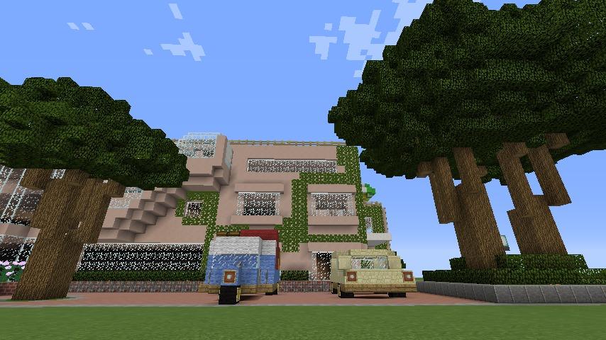 Minecrafterししゃもがマインクラフトでぷっこ村にスタジオジブリを再現する10