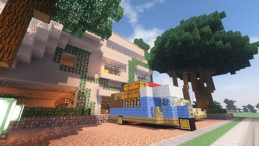 Minecrafterししゃもがマインクラフトでぷっこ村にスタジオジブリを再現する15