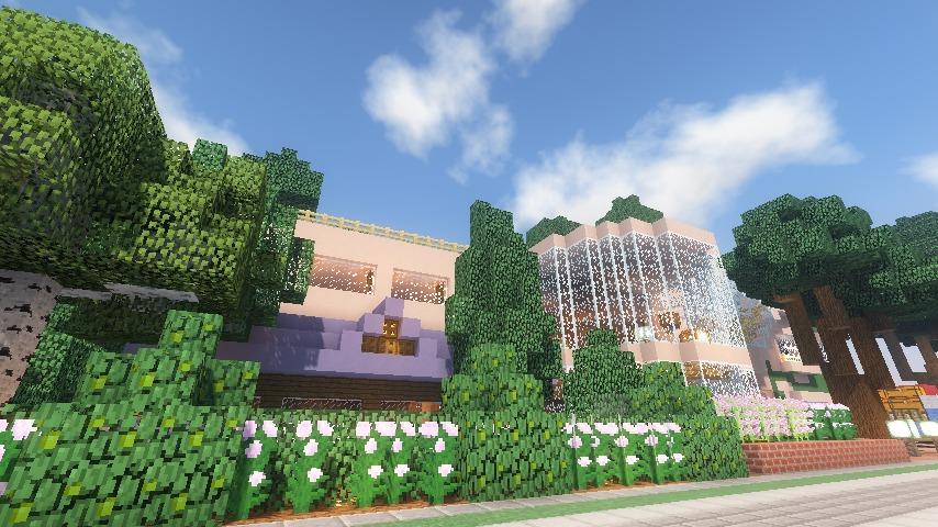 Minecrafterししゃもがマインクラフトでぷっこ村にスタジオジブリを再現する16