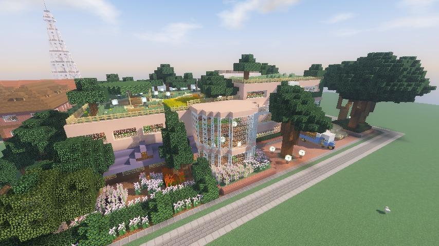 Minecrafterししゃもがマインクラフトでぷっこ村にスタジオジブリを再現する14