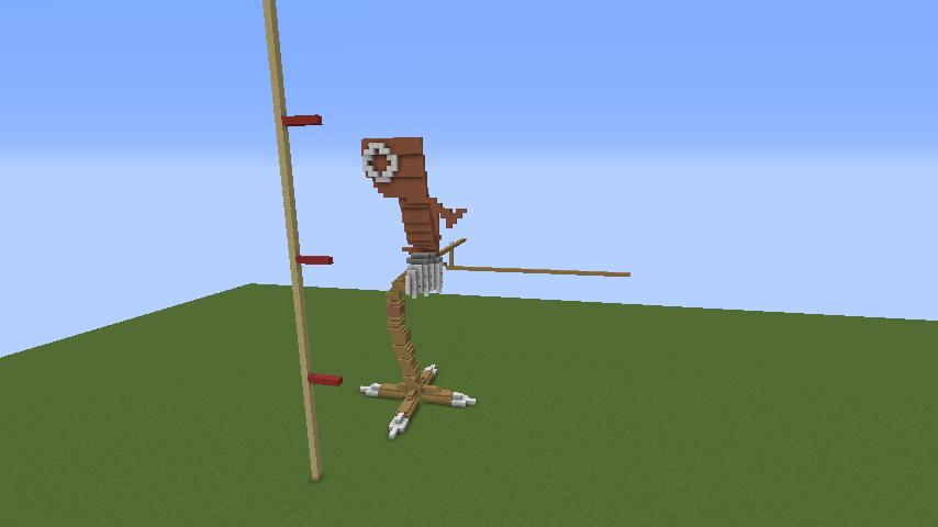 Minecrafterししゃもがマインクラフトでジブリのハウルの動く城を作成する前編3