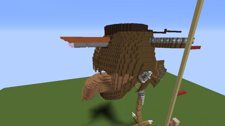 Minecrafterししゃもがマインクラフトでジブリのハウルの動く城を作成する前編5