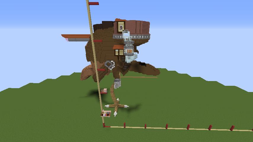 Minecrafterししゃもがマインクラフトでジブリのハウルの動く城を作成する前編6