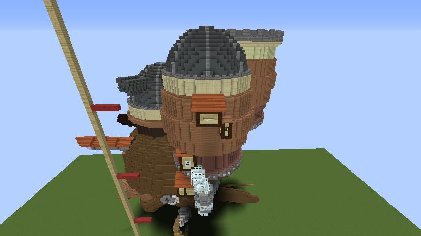 Minecrafterししゃもがマインクラフトでジブリのハウルの動く城を作成する前編7