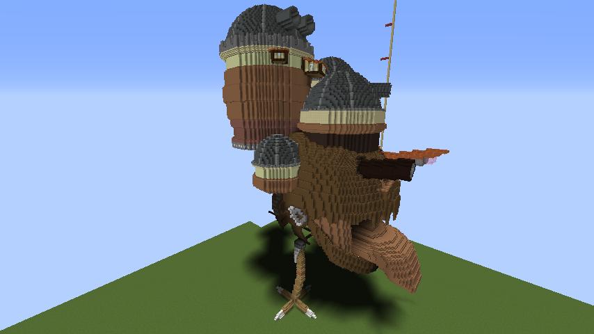 Minecrafterししゃもがマインクラフトでジブリのハウルの動く城を作成する前編8