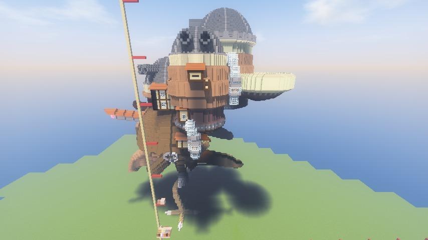Minecrafterししゃもがマインクラフトでジブリのハウルの動く城を作成する前編11