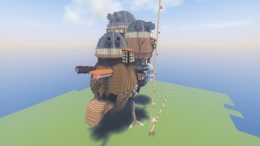Minecrafterししゃもがマインクラフトでジブリのハウルの動く城を作成する前編10