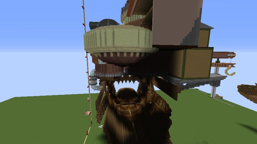 Minecrafterししゃもがマインクラフトでジブリのハウルの動く城を作成する後編1