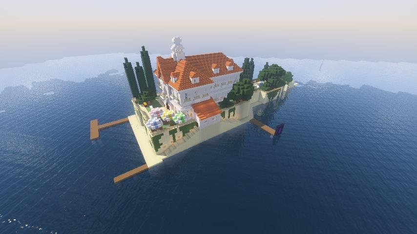 Minecrafterししゃもがマインクラフトでぷっこ村にホテルアドリアーノを建設する1