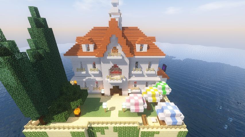 Minecrafterししゃもがマインクラフトでぷっこ村にホテルアドリアーノを建設する6