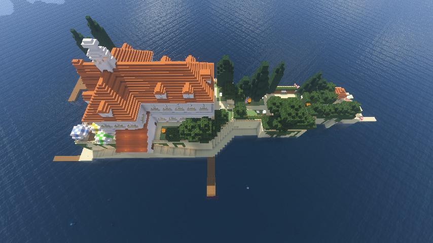 Minecrafterししゃもがマインクラフトでぷっこ村にホテルアドリアーノを建設する2