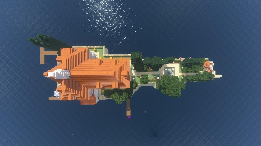 Minecrafterししゃもがマインクラフトでぷっこ村にホテルアドリアーノを建設する3