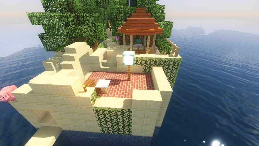 Minecrafterししゃもがマインクラフトでぷっこ村にホテルアドリアーノを建設する9