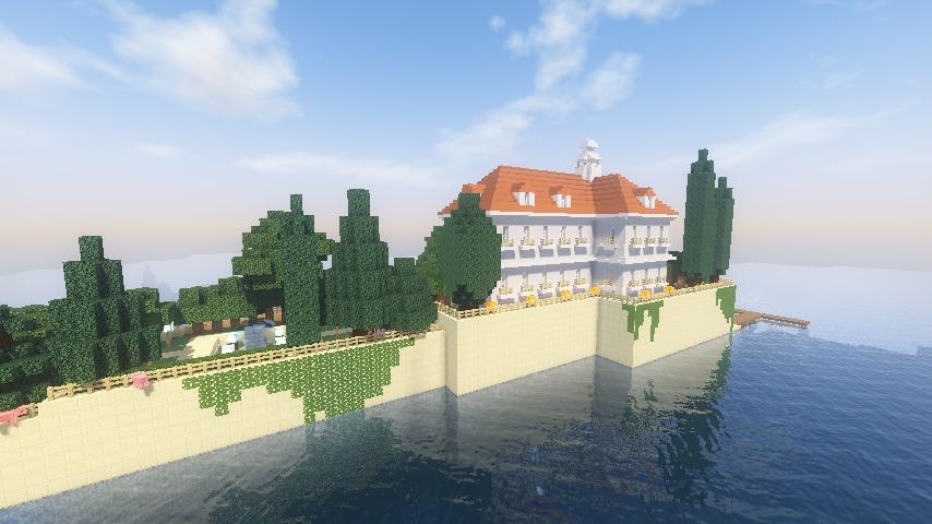 Minecrafterししゃもがマインクラフトでぷっこ村にホテルアドリアーノを建設する4