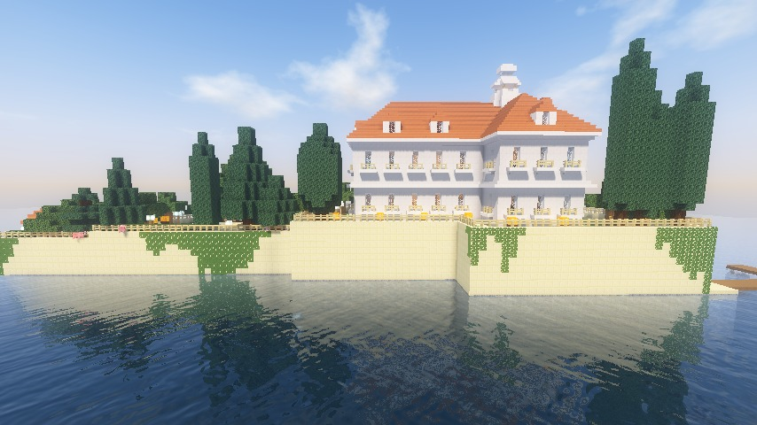 Minecrafterししゃもがマインクラフトでぷっこ村にホテルアドリアーノを建設する5