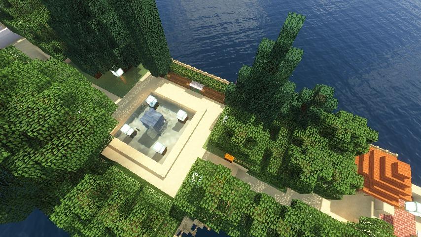 Minecrafterししゃもがマインクラフトでぷっこ村にホテルアドリアーノを建設する8