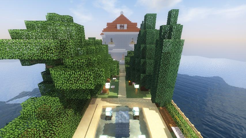 Minecrafterししゃもがマインクラフトでぷっこ村にホテルアドリアーノを建設する7