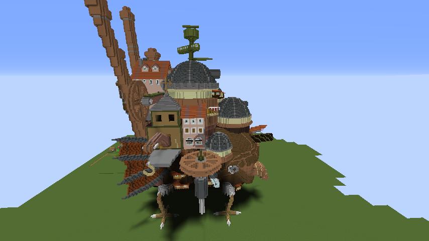 Minecrafterししゃもがマインクラフトでジブリのハウルの動く城を作成する後編11