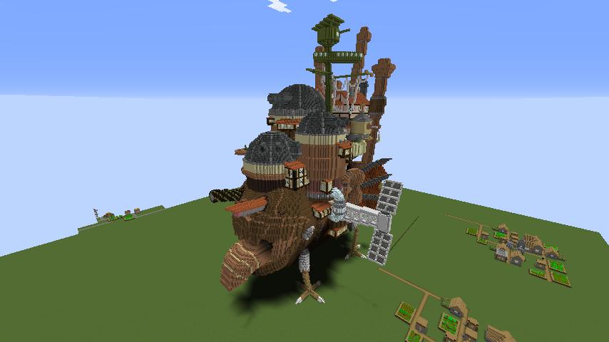 Minecrafterししゃもがマインクラフトでジブリのハウルの動く城を作成する後編12