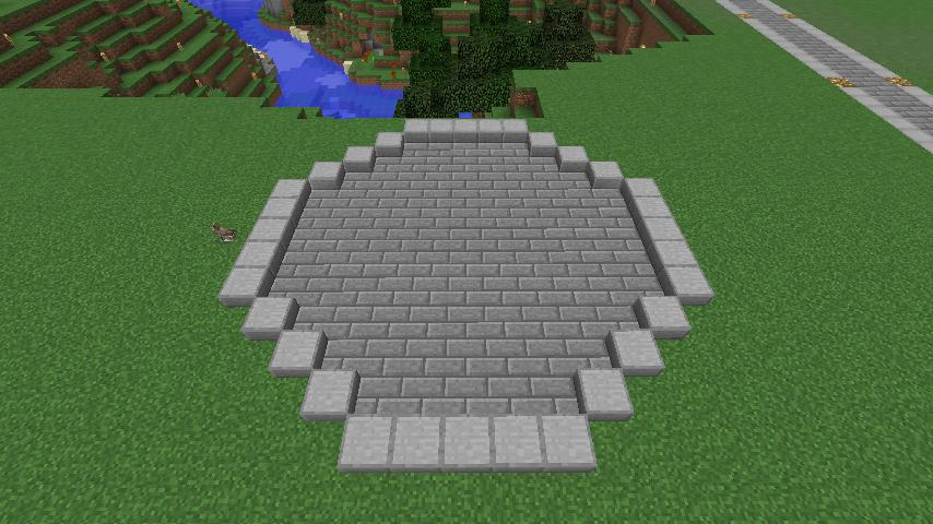 Minecrafterししゃもがマインクラフトで大きめのラセン噴水の作り方を紹介する4