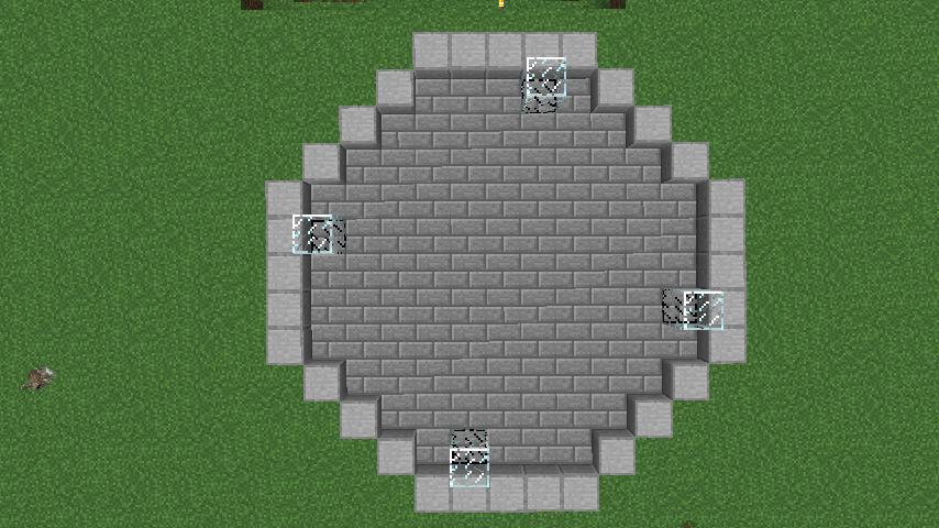 Minecrafterししゃもがマインクラフトで大きめのラセン噴水の作り方を紹介する5