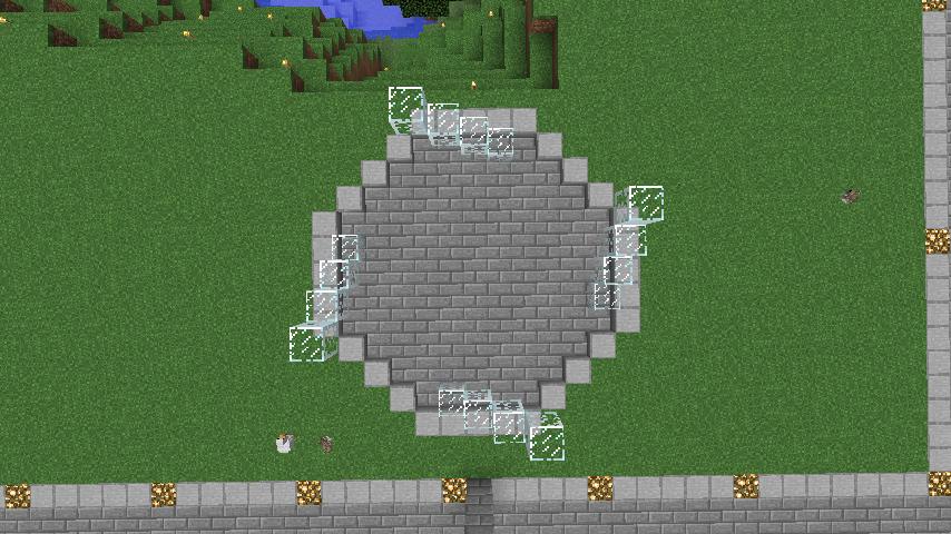 Minecrafterししゃもがマインクラフトで大きめのラセン噴水の作り方を紹介する6