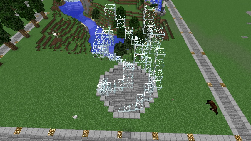 Minecrafterししゃもがマインクラフトで大きめのラセン噴水の作り方を紹介する9