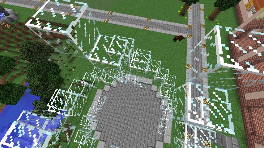 Minecrafterししゃもがマインクラフトで大きめのラセン噴水の作り方を紹介する10