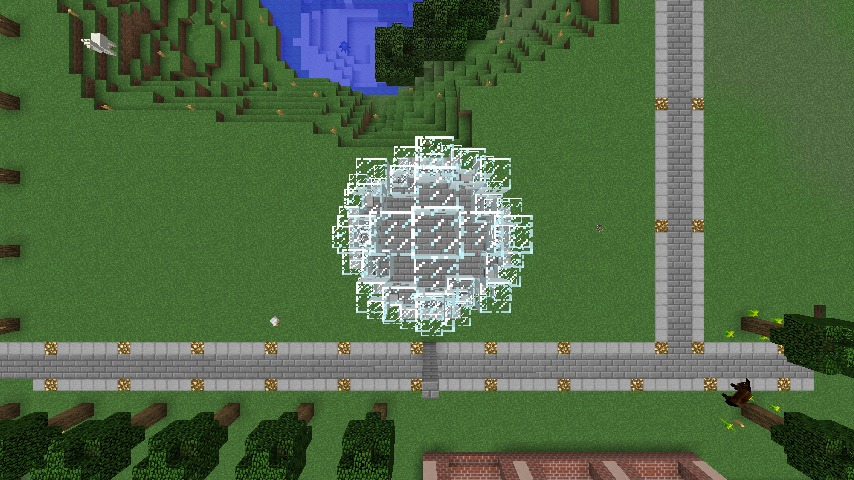 Minecrafterししゃもがマインクラフトで大きめのラセン噴水の作り方を紹介する12