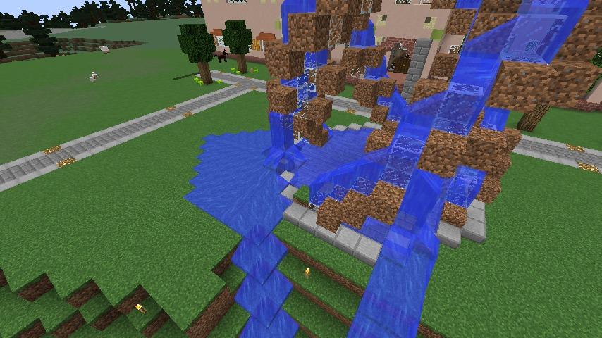 Minecrafterししゃもがマインクラフトで大きめのラセン噴水の作り方を紹介する17