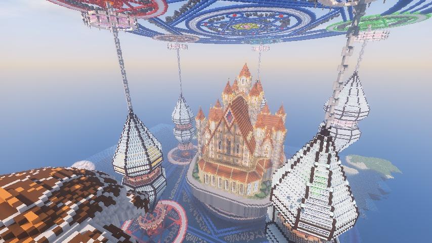 Minecrafterししゃもがマインクラフトでぷっこ村に城を建設して召喚する15