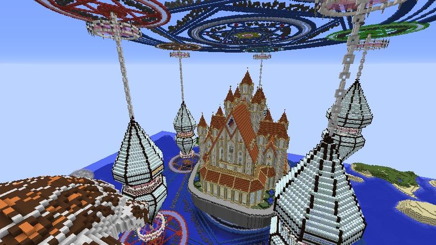 Minecrafterししゃもがマインクラフトでぷっこ村に城を建設して召喚する5