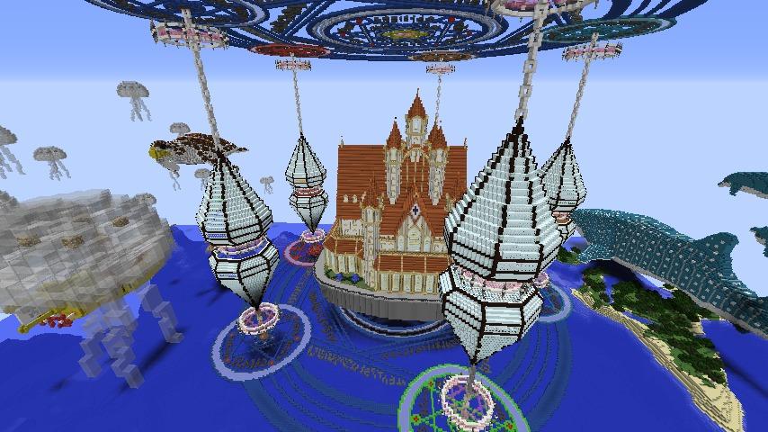 Minecrafterししゃもがマインクラフトでぷっこ村に城を建設して召喚する4