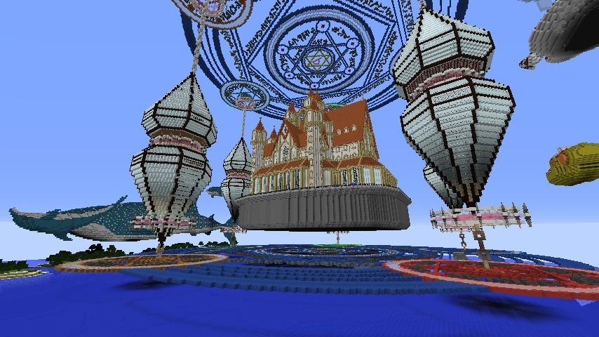 Minecrafterししゃもがマインクラフトでぷっこ村に城を建設して召喚する3