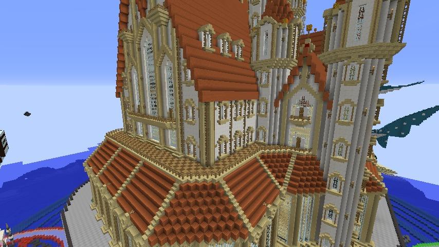 Minecrafterししゃもがマインクラフトでぷっこ村に城を建設して召喚する7