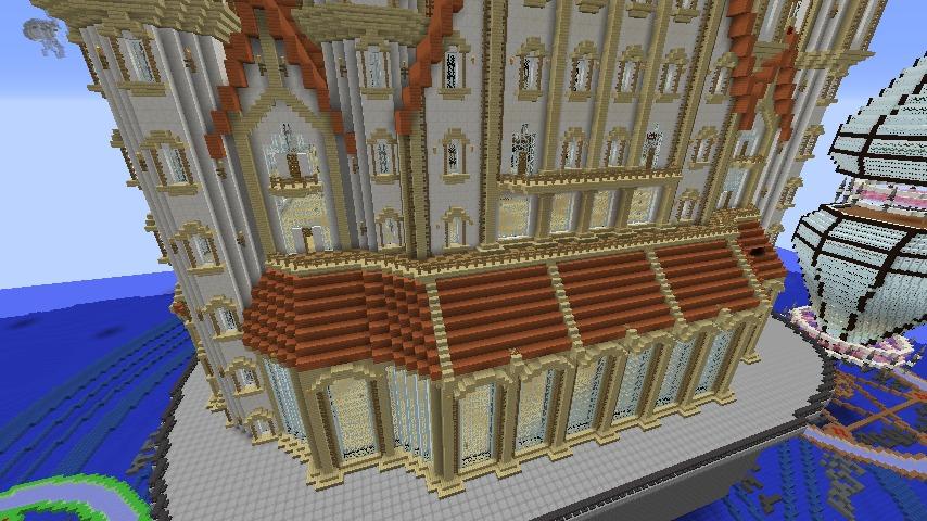 Minecrafterししゃもがマインクラフトでぷっこ村に城を建設して召喚する6