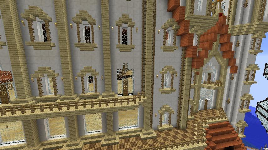 Minecrafterししゃもがマインクラフトでぷっこ村に城を建設して召喚する8