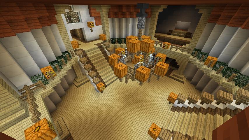 Minecrafterししゃもがマインクラフトでぷっこ村に城を建設して召喚する9