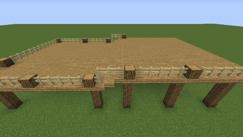 Minecrafterししゃもがマインクラフトでぷっこ村に移住者用のログハウスを建設する2