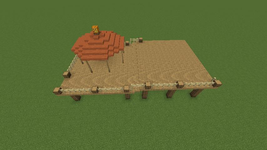 Minecrafterししゃもがマインクラフトでぷっこ村に移住者用のログハウスを建設する3