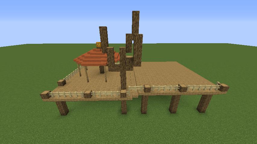 Minecrafterししゃもがマインクラフトでぷっこ村に移住者用のログハウスを建設する4