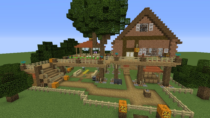 Minecrafterししゃもがマインクラフトでぷっこ村に移住者用のログハウスを建設する9