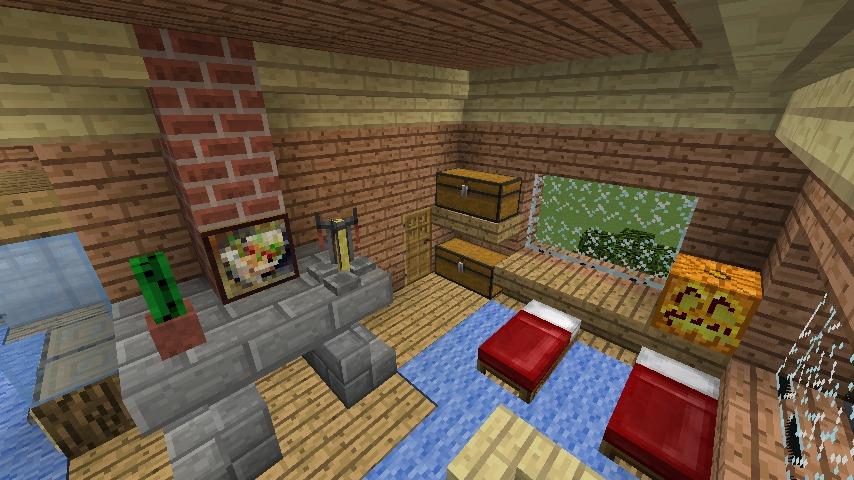 Minecrafterししゃもがマインクラフトでぷっこ村に移住者用のログハウスを建設する18