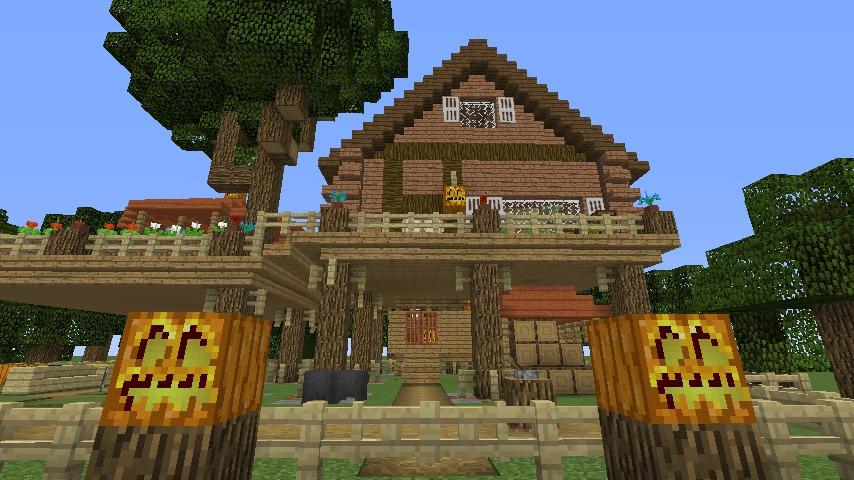 Minecrafterししゃもがマインクラフトでぷっこ村に移住者用のログハウスを建設する10
