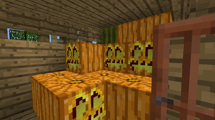 Minecrafterししゃもがマインクラフトでぷっこ村に移住者用のログハウスを建設する12