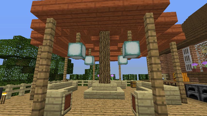 Minecrafterししゃもがマインクラフトでぷっこ村に移住者用のログハウスを建設する13