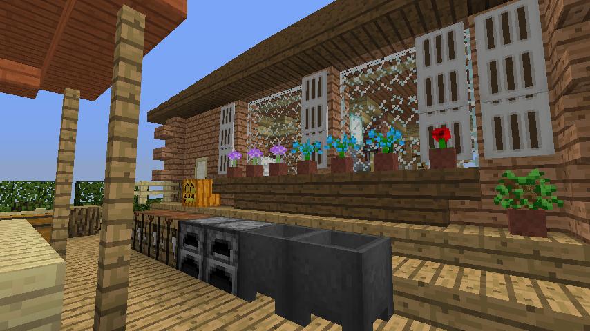 Minecrafterししゃもがマインクラフトでぷっこ村に移住者用のログハウスを建設する14