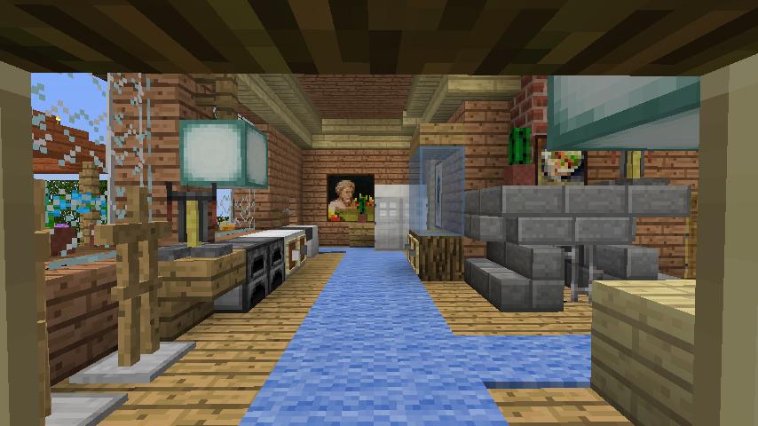Minecrafterししゃもがマインクラフトでぷっこ村に移住者用のログハウスを建設する16