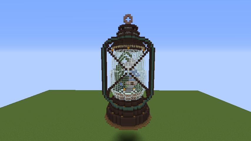 Minecrafterししゃもがマインクラフトでぷっこ村にランタンテラリウムを作る1