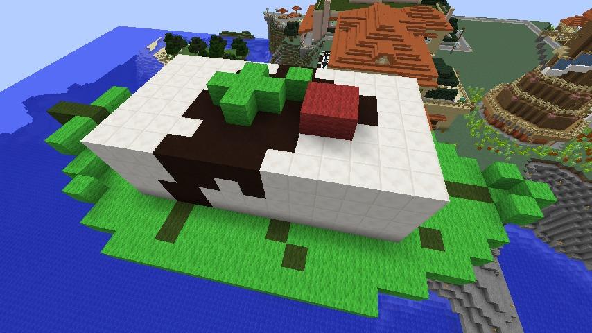 マインクラフトで作る紅葉下ろしとネギの絶妙な組み合わせ
